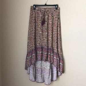 Xhilaration Skirts - Xhilaration Crop Top & Asymmetrical Skirt Set